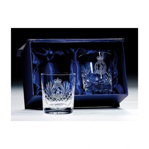 Lindisfarne Gospels Crystal Whiskey Glasses 145mm